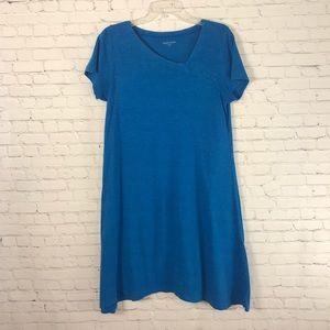 Eileen Fisher Tunic T-Shirt Dress Blue Size Medium